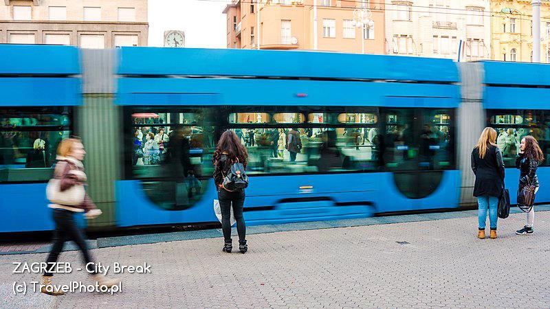 Zagrzeb - niebieskie tramwaje